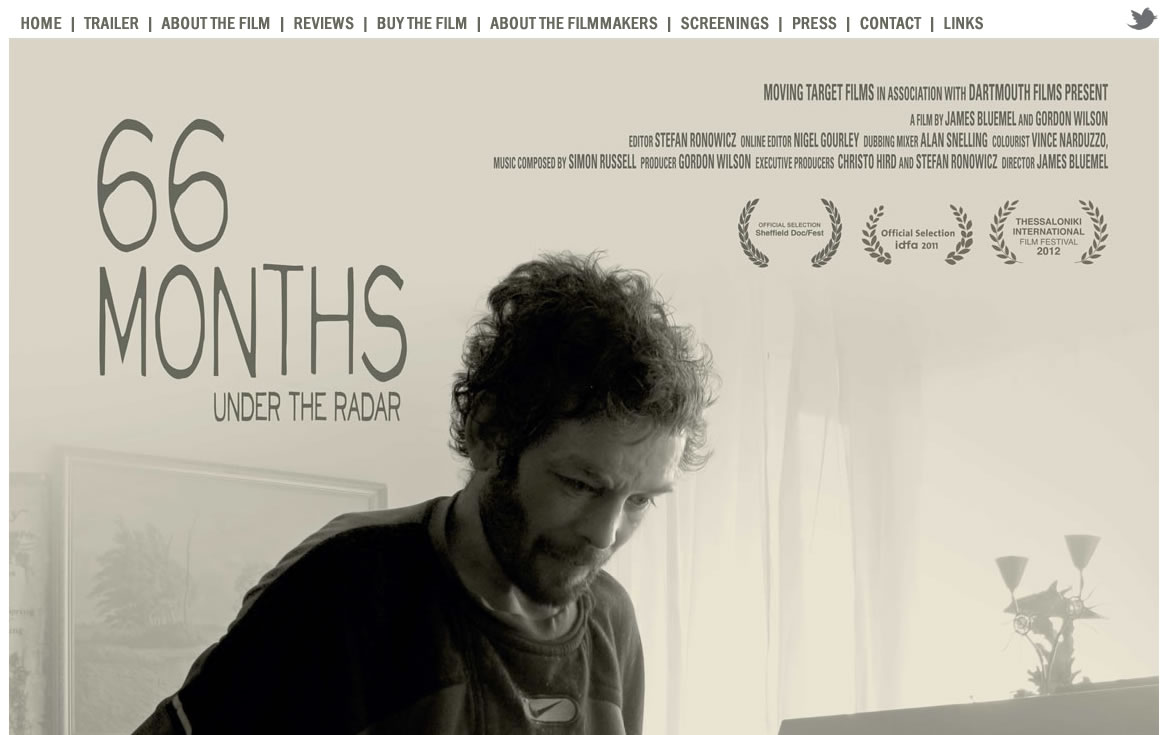 Screenshot of the 66months.com homepage